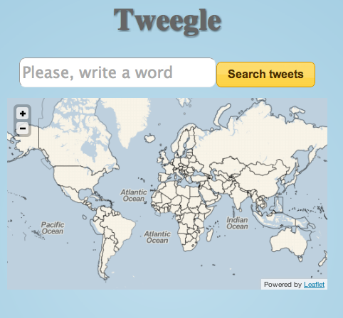 Tweegle homepage